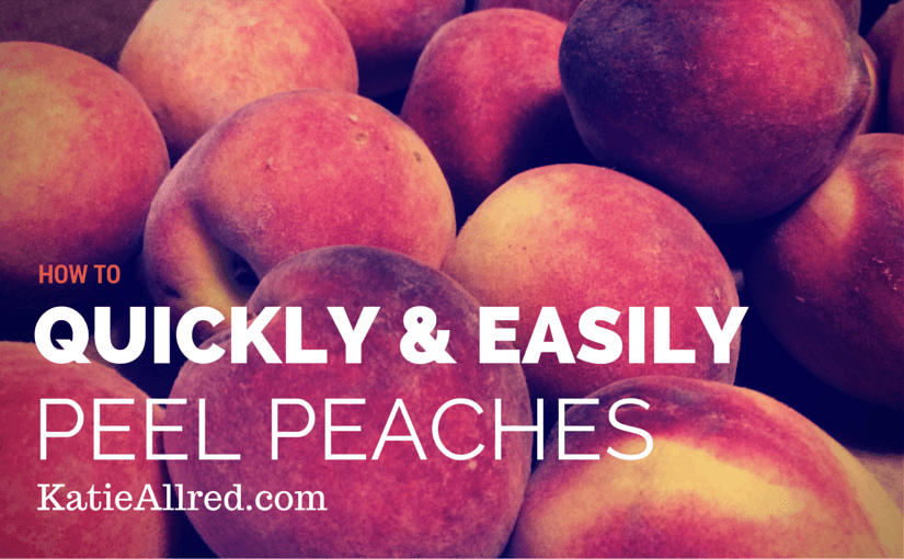 How to Peel Peaches Quickly and Easily 🍑