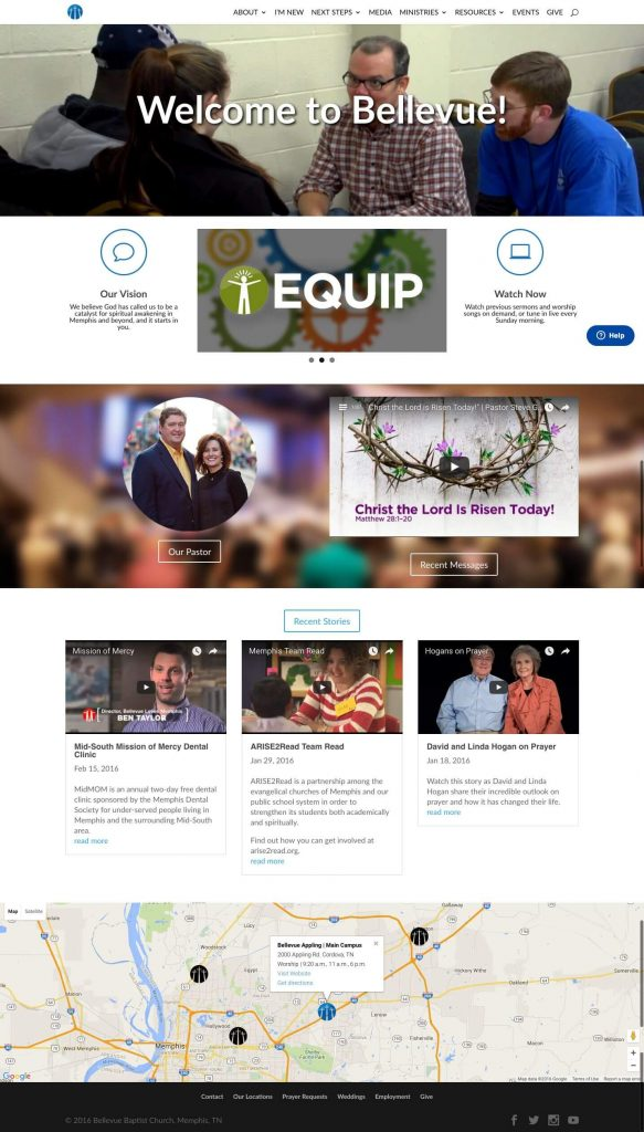 Bellevue Baptist Church - Churches Using Divi