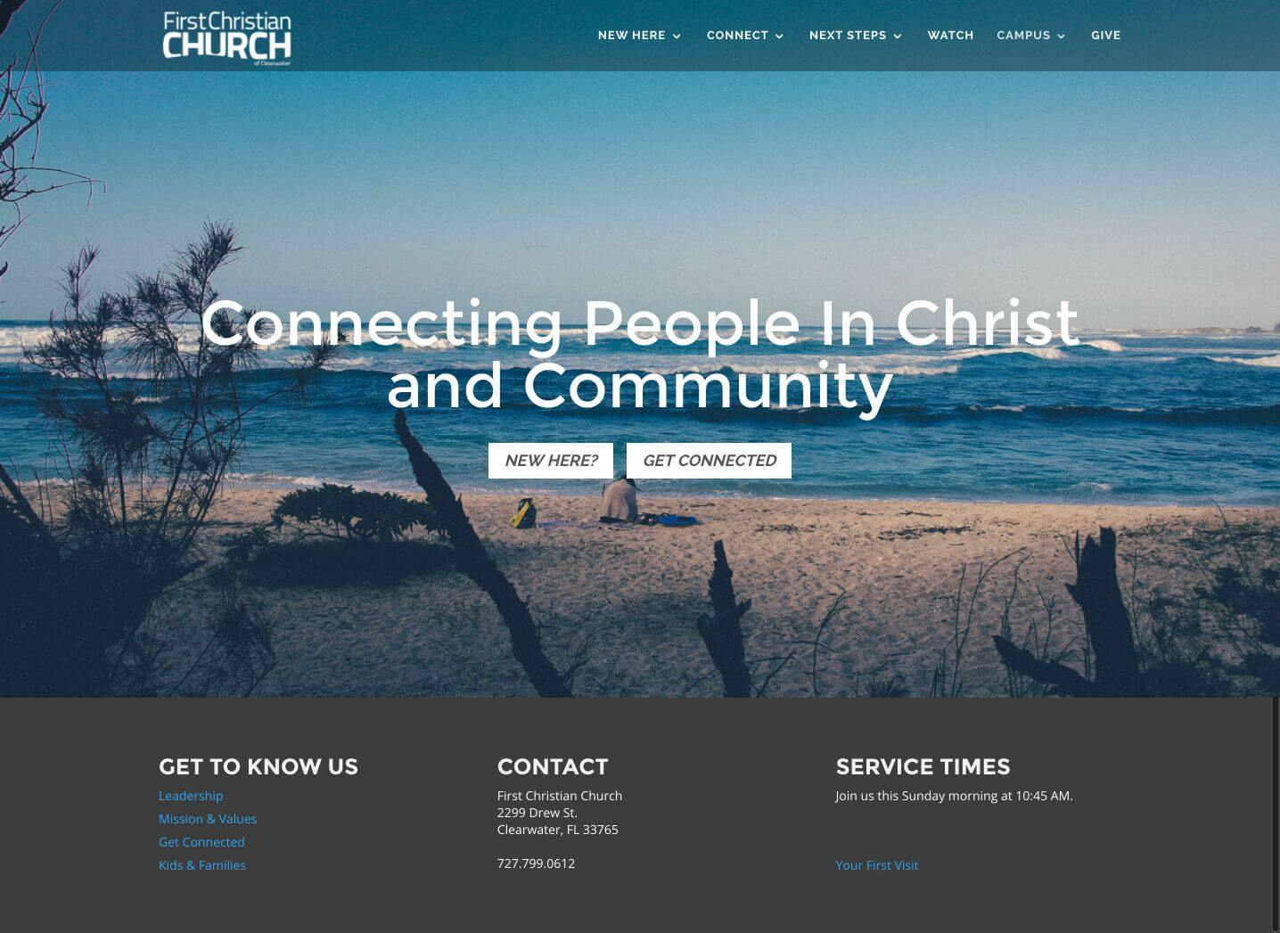 First Christian Church - Churches Using Divi