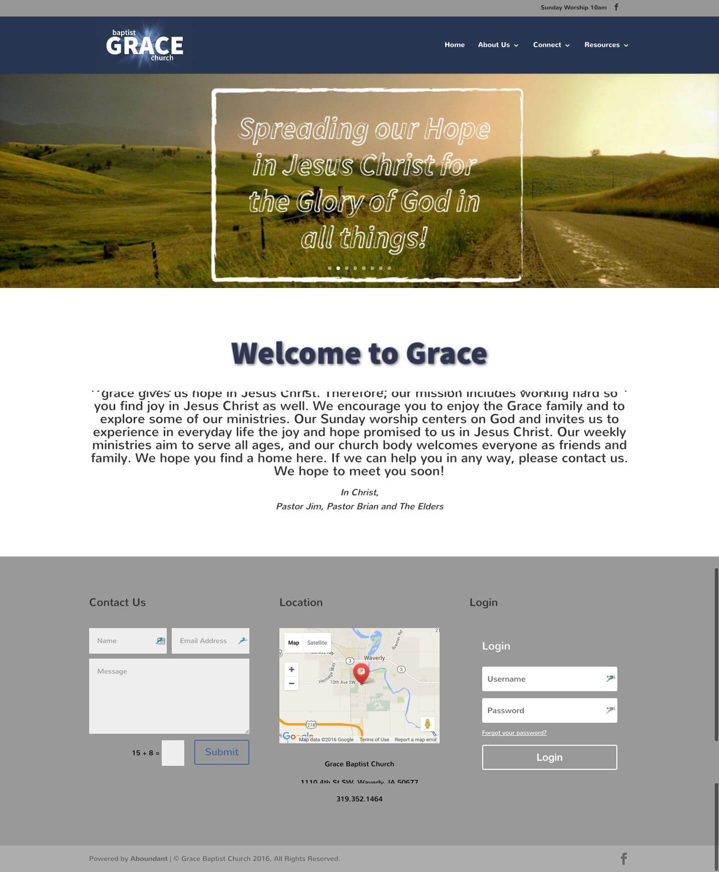 Grace Baptist Church - Churches Using Divi