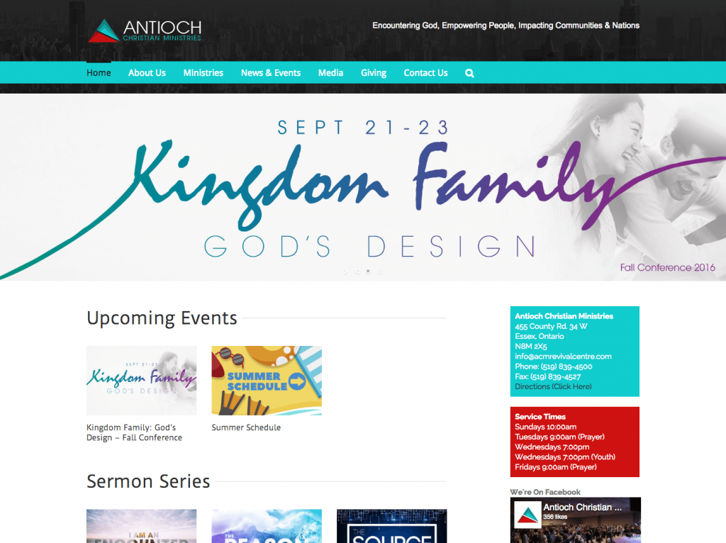Antioch Christian Ministries - Avada WordPress Theme