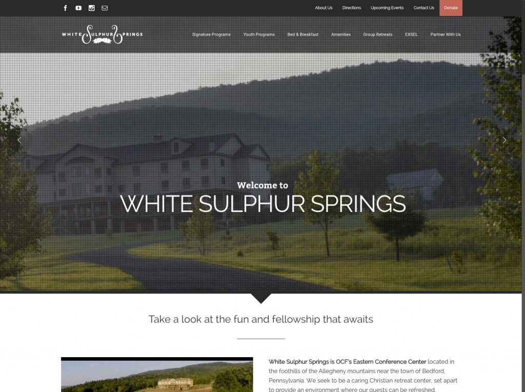White Sulphur Springs - Avada WordPress Theme